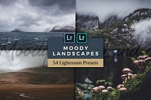 Moody Lightroom Presets - Landscapes by  in Actions