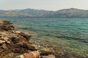 Adriatic sea view from broken pier