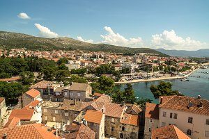 Aerial view on Trogir
