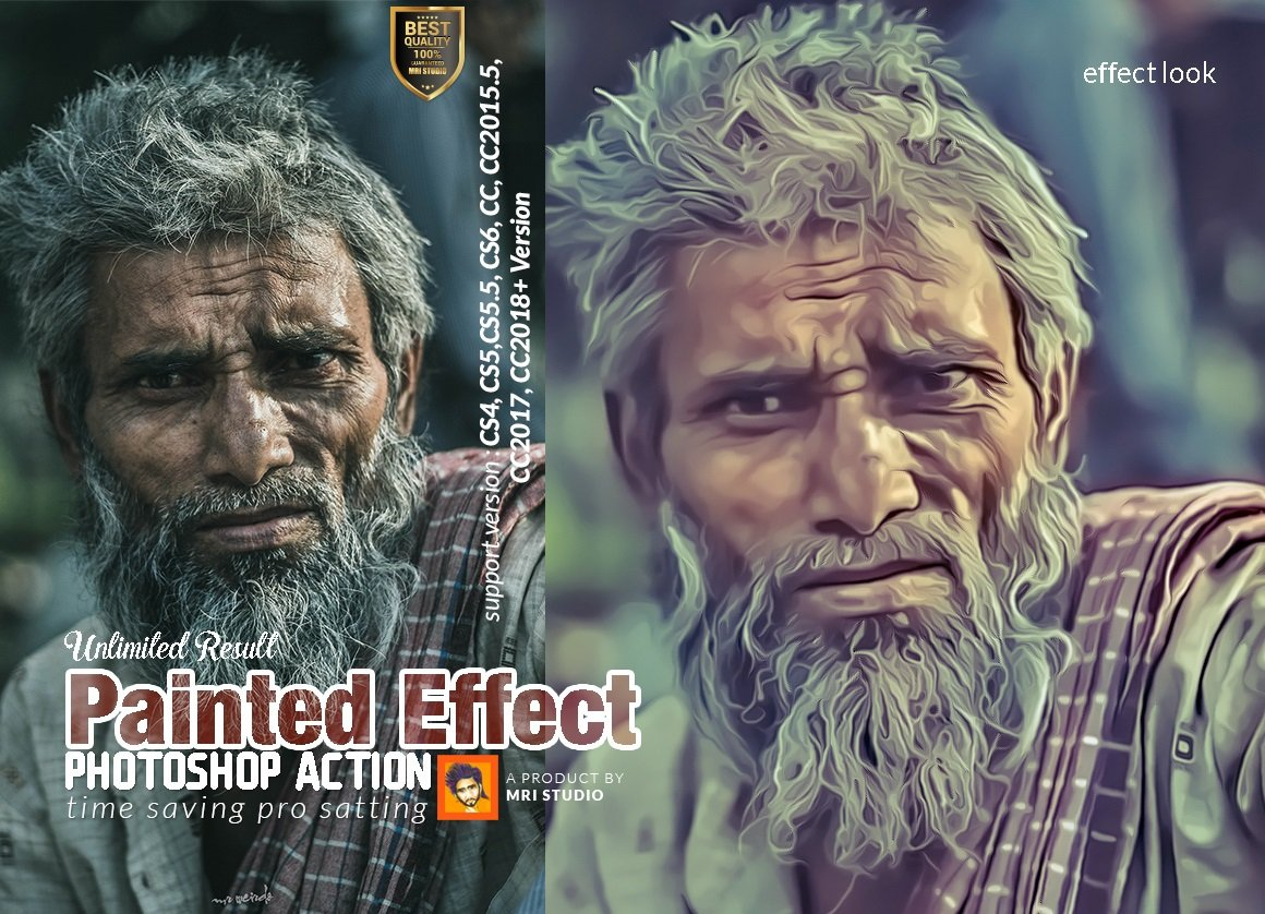 Painted Effect Photoshop Action ~ Photoshop Add-Ons