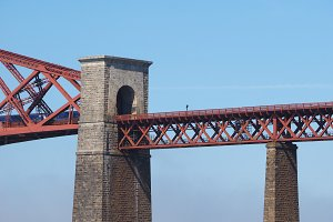 Forth Bridge over Firth of Forth in