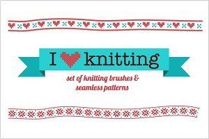 Knitting vector brushes & patterns