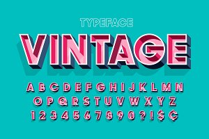 Retro original 3d display font