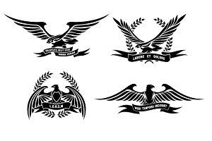 Eagle heraldic labels