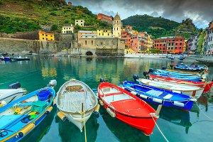Vernazza village with harbor