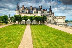 Amazing famous castle of Amboise