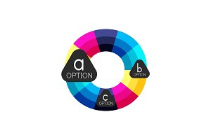Abstract colorful geometric option