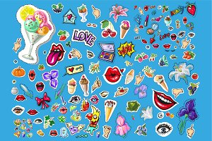 Fashion patch badges bundle