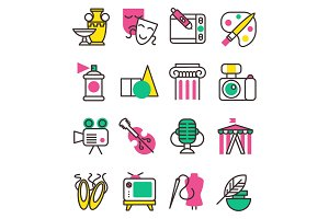 Vector creation art graphic icons