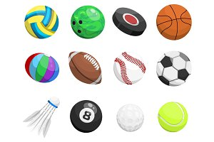 Sport balls vector collection