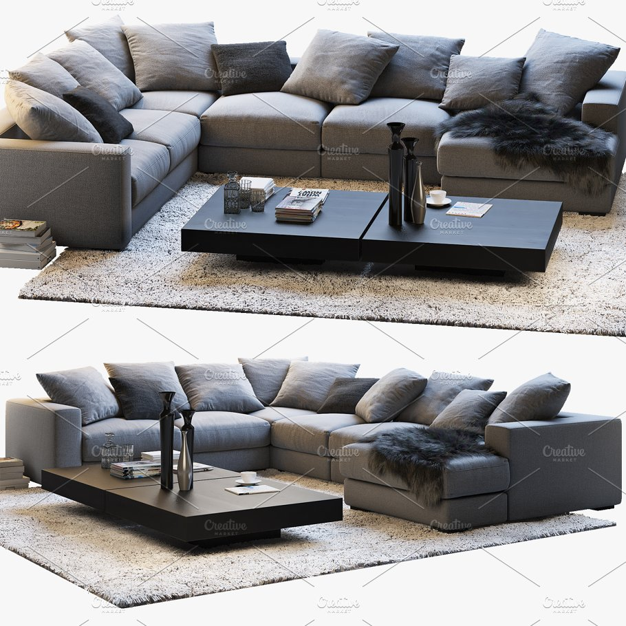BoConcept Cenova 3 corner sofa