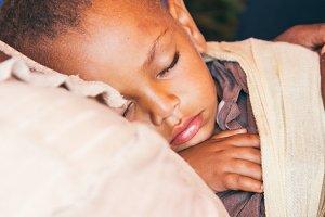 Ethiopian baby sleeping