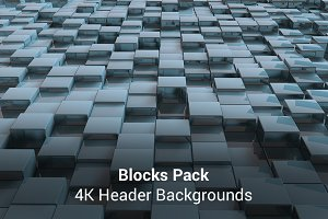 Blocks - 4K Header Backgrounds