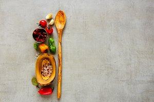 Fresh organic ingredients