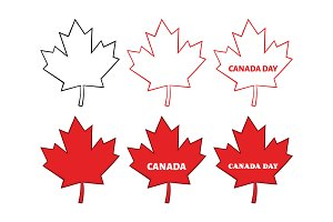 Canadian Red Maple Leaf Collection