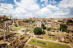 Forum of Caesar in Rome, Italy