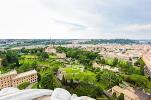 Aerial view on Vatican Gardens