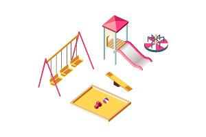 Isometric children playground