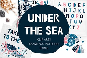 Under the sea - Clipart collection