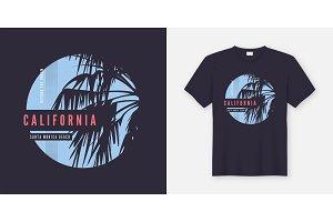 Santa Monica Beach t-shirt design