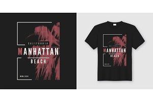 Manhattan beach t-shirt and apparel