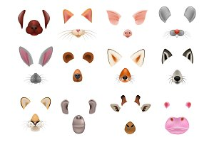 Animal mask vector animalistic