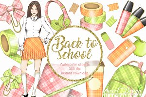 Back to school cliparts
