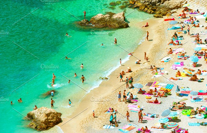 Summer holidays. Sand beach - Holidays