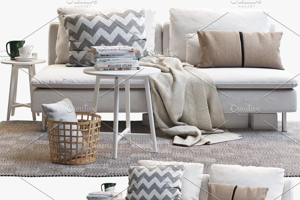 Ikea Soderhamn Two Seat Sofa Furniture Models Creative Market