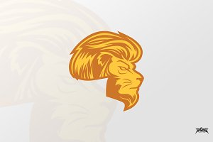 Cool Lion Logo Vector