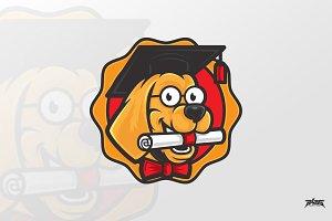 Dog Scholar Vector Logo Mascot