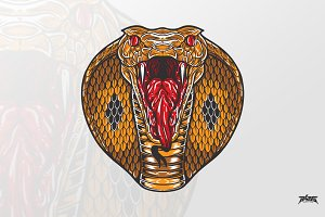 Fierce King Cobra Head