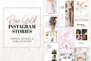 Rose Gold Instagram Stories