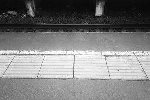Vintage railway concrete station emp