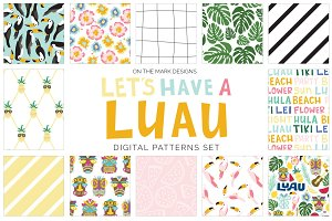 Tropical Luau Digital Pattern Set