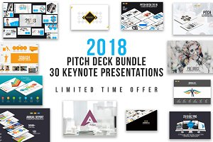 Pitch Deck Keynote Templates Bundle