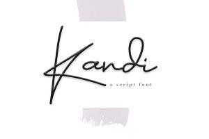 Kandi - Signature Script Font