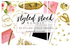 Styled Stock Bundle Pink & Gold
