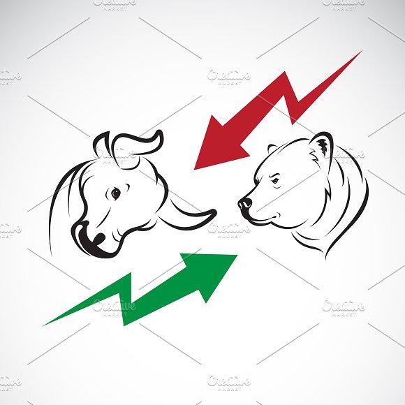Bull And Bear Symbols Of Stock Marke Icons Creative Market