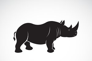 Vector of rhinoceros design. Animal.
