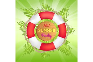 Hot Summer Party Promotional Banner