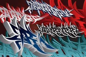 Burner - Wildstyle Graffiti Font