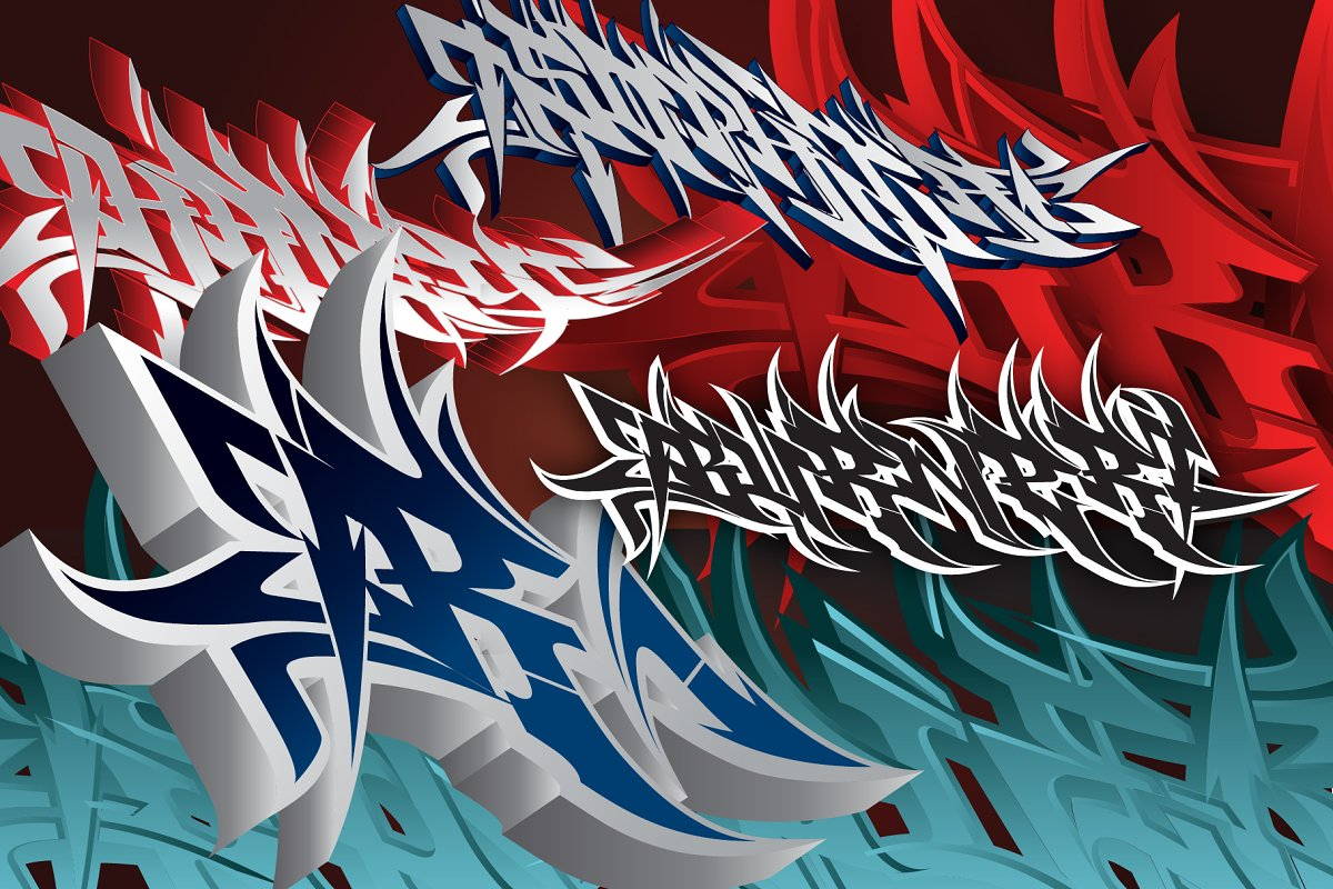 Publicado Burner - Wildstyle Graffiti Font ~ Fonts