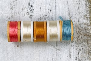Colorful spools of Thread