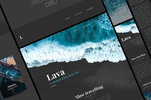 Lava - A Responsive Blog Template