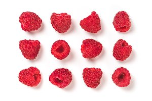 raspberries pattern isolated