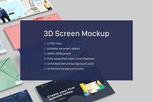 3D Screen Mockup