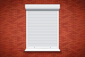 White Roller Shutters on Window