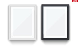 Set of modern picture frames