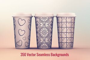 350 Vector Seamless  Backgrounds